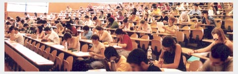 students during an exam